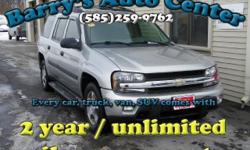 **Get a FREE 2 Year Unlimited Mileage Warranty!!** Here is a powerful 2005 Chevrolet TrailBlazer EXT LT 4WD that is loaded with power windows, locks, windows, heated side mirrors and more! This car could be yours for as low as $122/month! Come check it