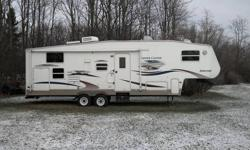 For Sale 2005 Copper Canyon 297FWBHS in excellent shape and condition. Features Bunkhouse for the kids, front bedroom, Hide a bed, Microwave oven, AM/FM/CD/DVD player with surround sound, 10 gallon electric/gas hot water heater, full shower, livingroom