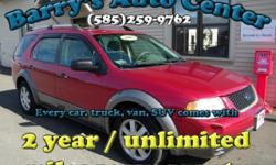 **Get a FREE 2 Year Unlimited Mileage Warranty!!** Here is a super clean Freestyle with AWD, power options, and it comes with a great warranty for just $72/month! Make your New Years resolution to trade in that old gas hog for a newer pre-owned vehicle in