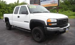 Rugged 4 wheel drive pick up truck. Basic extended cab with bedliner, towing package and more!