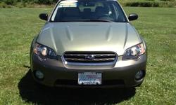 To learn more about the vehicle, please follow this link: http://used-auto-4-sale.com/108699708.html 2005 Subaru Outback 2.5i in Willow Green Opal/Moss Green Metallic. Very Clean Condition. 5 Speed Manual Transmission, AM/FM CD. 4-Wheel Disc Anti-lock