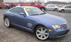 ***CLEAN VEHICLE HISTORY REPORT*** and ***PRICE REDUCED***. Crossfire Limited, Blue, and Leather. How inviting is the low-mileage of this outstanding 2006 Chrysler Crossfire? Add up all the hours you spend in your car each year, and you'll certainly