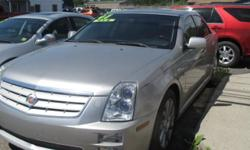 2007 Cadillac STS Silver AWD. HAs Navigation Power SUnroof Black Leather Interior Loaded Comes with 5 Year 100,000 Mile warranty Call Anthony 315/632-5736