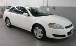 Impala SS, 5.3L V8 SPI, 4-Speed Automatic HD with Overdrive, Performance White, 4-Wheel Antilock Disc Brakes, All-Speed Traction Control, AM/FM Stereo w/XM Satellite/CD/MP3 Playback. CLEAN VEHICLE HISTORY....NO ACCIDENTS! Leather-Appointed Seating, Power