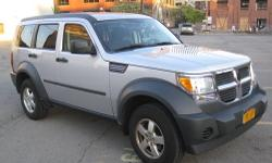2007 Dodge Nitro SXT Sport Utility 4WD Engine : V6, 3.7 Liter Mileage : 57.000 Traction Control, Stability Control, ABS (4-Wheel), Dual Airbags, F&R Side Airbags, Air Conditioning, Power Windows, Power Door Locks, Remote Keyless Entry, Power Door Mirrors,