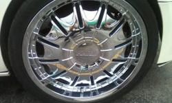2007 escalade rims with new tires rims in great shape no pitting chrome must see valued at $2300