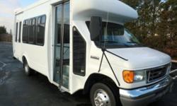 Major Vehicle Exchange presents this 2007 Ford Startrans E-450 12 passenger with 2 wheelchair positions plus driver shuttle bus with just 61,000 miles! Equipped with an extremely low mileage rugged and dependable Triton 6.8L V-10 engine which delivers