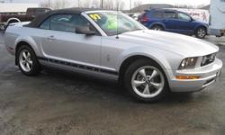 ***CLEAN VEHICLE HISTORY REPORT***, ***ONE OWNER***, and ***PRICE REDUCED***. Mustang V6 Premium, 2D Convertible, 4.0L V6 SOHC, and Silver. There isn't a cleaner 2007 Ford Mustang at this price than this low-mileage gem. It's the combination of advanced