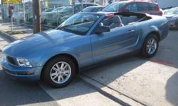 Royal Motors is happy to present this 2007 Ford Mustang Convertible. We'll have you wishing your commute never ends! The Rich Blue Exterior and the Gray Interior finish gives this Mustang a sleek and sophisticated look. Drive this Fantastic Mint Condition