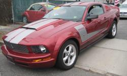 Royal Motors is happy to present this 2007 Ford Mustang. We'll have you wishing your commute never ends! The Rich Maroon Exterior and the Black Leather Interior finish gives this Mustang a sleek and sophisticated look. Drive this Fantastic Mint Condition