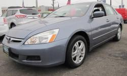"2007' Honda Accord SE 2.4, 4D Sedan, 2.4L I4 DOHC i-VTEC 16V, 5-Speed Automatic with Overdrive, Front Wheel Drive, Cool Blue Metallic, Gray w/Cloth Seat Trim, and A 12 Month 12000 Mile Royal Shield Power Train Warranty. """"WOW !!!"""" This Is A Must See Car."