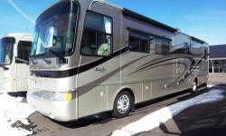 2007 Monaco Knight 40PLQ For Sale in North Rose, New York 14532 This 2007 Monaco Knight only has 6,000 miles with 4 slides and rear heat pump A/C units, and 6kw diesel generator, 3 exterior cameras, left, right, and rear views. Has a sleep number queen