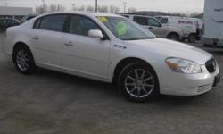 ***CLEAN VEHICLE HISTORY REPORT***, ***ONE OWNER***, ***PRICE REDUCED***, and SUNROOF, LEATHER AND BACK UP SENSORS. Lucerne CXL, White, and Tan. Take your hand off the mouse because this attractive 2008 Buick Lucerne is the low-mileage car you've been