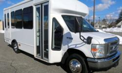 Major Vehicle Exchange presents this new style 52,000 mile 2008 Ford Starcraft E-350 12 passenger with 2 wheelchair positions plus driver shuttle. It is just in from Florida and is rust free and in excellent condition! Equipped with a rugged and