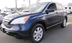 """""ONE OWNER"""", """"CLEAN CAR FAX"""", """"LOW MILEAGE"""" 2008' Honda CR-V EX-L, 4D Sport Utility, 2.4L I4 DOHC 16V i-VTEC, 5-Speed Automatic, All Wheel Drive, Royal Blue Pearl, Black w/Cloth Seat Trim, ABS brakes, Alloy wheels, 7 Speaker AM/FM radio,"