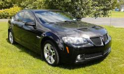 Come take a look at this beautiful 2008 Pontiac G8. This car is in excellent condition, is fully loaded, has a g-force chip and custom paint (charcoal grey and black pearl). If you're interested in buying this car, feel free to send me a message and I'll