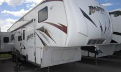 (585) 617-0564 ext.232 Used 2008 Keystone Raptor 3600RL Fifth Wheel Toyhauler for Sale... http://11079.greatrv.net/v/16586243 Copy & Paste the above link for full vehicle details