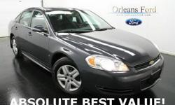 ***PRICED TO SELL***, ***CLEAN CARFAX***, ***ABSOLUTE BEST VALUE***, ***WE FINANCE***, and ***TRADE HERE TODAY***. Most valuable player. This 2009 Impala is for Chevrolet fans who are searching for that ultimate all-around-performance car. New Car Test
