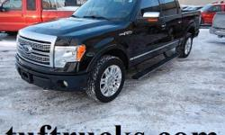 The F-150 is the most popular light duty truck going and the new body style is what everyone wants. Well here it is. This one is a very well equipped and hard to find Platinum Super Crew with automatic, Split Seats, factory air conditioning, tilt wheel,