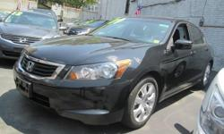 This 2009 Honda Accord comes in a sleek black exterior with a smooth black leather interior. It is great on gas, safe, and reliable! Price(s) include(s) all costs to be paid by a consumer, except for licensing costs, registration fees, Dealer Document Fee