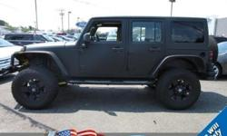 To learn more about the vehicle, please follow this link: http://used-auto-4-sale.com/108571452.html Only 40,276 Miles! Boasts 19 Highway MPG and 15 City MPG! This Jeep Wrangler Unlimited boasts a Gas V6 3.8L/231 engine powering this Automatic