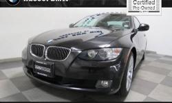 Hassel BMW Mini presents this 2010 BMW 3 SERIES 2DR CPE 328I XDRIVE AWD with just 29160 miles. Represented in BLACK. Fuel Efficiency comes in at 25 highway and 17 city. Under the hood you will find the 3.0 Liter coupled with the AUTOMATIC. Recently
