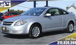 If you are looking for great fuel economy, but you don't want the complexity of a hybrid, you have found your car! This low mileage Cobalt coupe has all of the power features, plus sporty good looks. All of the safety items are here too including side