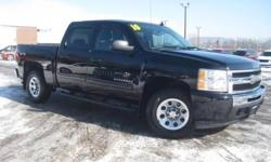***CLEAN VEHICLE HISTORY REPORT***, ***ONE OWNER***, and ***PRICE REDUCED***. 4D Crew Cab, Vortec 4.8L V8 SFI VVT Flex Fuel, 4WD, Black, and Cloth. If you've been thirsting for just the right 2010 Chevrolet Silverado 1500 to get some work done, then stop