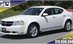 Sporty styling, leather lined interior, great fuel economy, they are here in this 2010 Dodge Avenger R/T sedan! This one has been fully serviced including four brand new tires and more - it is road ready! More pictures and information are available on our