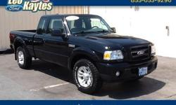 To learn more about the vehicle, please follow this link: http://used-auto-4-sale.com/108613330.html 2010 Ranger Sport Super Cab in Black. 4 Wheel Drive, 5 Speed Manual Transmission, AM/FM CD/MP3 Player with Satellite Radio, and Class III Trailer Towing