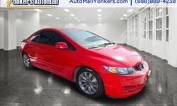 Clean carfax** 2010 Honda Civic Coupe EX with sunroof, alloy wheels, premium sound and so much more. Yonkers Auto Mall is the premier destination for all pre-owned makes and models. With the best prices & service on quality pre-owned cars and over 50