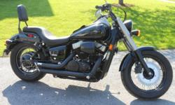 **Special Edition Honda Shadow** -750cc Motor -2,600 miles -Custom K&M Exhaust, custom air filter, custom mustang seat and back rest -Original seat and exhaust included in price **NEVER LAID DOWN Call (315)767-8059
