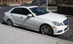 Meticulously kept & maintained: Artic White with Almond/Black Leather interior. Sport Edition with Premium Package II. Has a complete chrome trim package, AMG grille, rear window & trunk spoilers, AMG style Chrome 5 split-spoke wheels. Navigation...the
