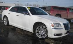***ONE OWNER***, ***PRICE REDUCED***, and NAVIGATION, LEATHER AND TOUCH SCREEN. 300 Limited, Bright White Clearcoat, and Black Leather. You Win! Creampuff! This charming 2011 Chrysler 300 is not going to disappoint. There you have it, short and sweet!