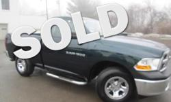 ***CLEAN VEHICLE HISTORY REPORT*** and ***PRICE REDUCED***. Ram 1500 ST and Green. Meet your easy chair. Monumental pulling power. Take your hand off the mouse because this 2011 Dodge Ram 1500 is the truck you've been looking for. Designated by Consumer