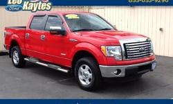 To learn more about the vehicle, please follow this link: http://used-auto-4-sale.com/108660049.html Ford Certified! A One Owner 2011 Ford F-150 XLT in Race Red. Bluetooth for Phone and Audio Streaming, Ecoboost Engine, SYNC Voice Activated Systems,