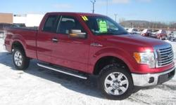 ***CLEAN VEHICLE HISTORY REPORT*** and ***PRICE REDUCED***. F-150 XLT, 4WD, and Red. Look! Look! Look! Extended Cab! Ford's F-Series leads the way for light-duty full-size pickups. They say silence is golden. You'll know what they meant when you drive