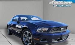 Innovative safety features and stylish design make this 2011 Ford Mustang a great choice for you. This Ford Mustang offers you 42533 miles and will be sure to give you many more. This Mustang has so many convenience features such as: power seatspower