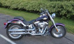 "HE BOUGHT IT FOR HIS WIFE---SHE DIDN'T WANT TO RIDE! ALL STOCK, READY TO GO. The 2011 Harley-Davidson® Softail® Fat Boy® FLSTF is one of the quintessential cruiser motorcycles. Hearkening to the ""hardtail"" choppers of the '60s and '70s, the"