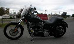 1584 cubic centimeter/96 cubic inch engine, 6-Speed Transmission, Upgrades include: Small side bag, Upgraded Seat with Backrest, Pull back Handle Bars, Vance Hines Pipes, Anti-vibration Grips, Spartan Removable Windshield, Serviced and Inspected, Only