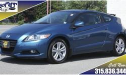 Looking for great gas mileage in a hybrid without giving up the fun of driving? This CR-Z will fit the bill! Designed with the heritage of the legendary CRX in mind, this two seat hatch show that you can have a sporty looking car that is fun to drive and