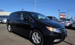 Look at this 2011 Honda Odyssey SUBN. It has an Automatic transmission and a Gas V6 3.5L/ engine. This Odyssey features the following options: Front/2nd/3rd row side curtain airbags w/rollover sensor, (4) cargo area bag hooks, Compact spare tire, Acoustic