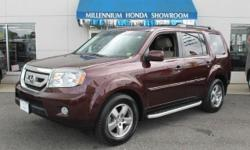 2011 Honda Pilot EX L - 4X4 - Sunroof - DVD-Rear Cam - Htd Leather - Very Clean - 25K Mi!! 2011 Honda Pilot EX-L 4dr SUV 4WD (3.5L 6cyl ) with Dark Cherry Pearl Exterior, Ivory Interior. Loaded with 3.5L V6 Engine, 8-Passenger Seating, Leather Seats,