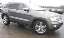 ***CLEAN VEHICLE HISTORY REPORT***, ***ONE OWNER***, ***PRICE REDUCED***, and LEATHER, NAVIGATION, BACK UP CAMERA, HEATED LEATHER AND REMOTE START. Grand Cherokee Overland, 5.7L V8 Multi Displacement VVT, 4WD, and Gray. Stop clicking the mouse because