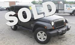 To learn more about the vehicle, please follow this link: http://used-auto-4-sale.com/108762351.html ***CLEAN VEHICLE HISTORY REPORT***, ***ONE OWNER***, and ***PRICE REDUCED***. Wrangler Unlimited Sport, 3.8L V6 SMPI, 4-Speed Automatic VLP, 4WD, Air