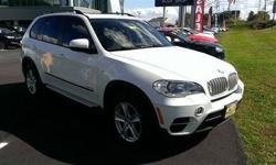 Check out this 2012 BMW X5 35d. This X5 comes equipped with these options: USB & iPod adapter, 4-wheel anti-lock ventilated disc brakes, electronic front/rear proportioning, 6-speed electronically controlled automatic transmission -inc: adaptive