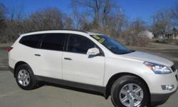***CLEAN VEHICLE HISTORY REPORT*** and ***PRICE REDUCED***. Traverse LT 1LT and White. 32k Actual Miles! A real treat to drive. Put down the mouse because this 2012 Chevrolet Traverse is the SUV you've been looking for. Chevrolet has established itself as