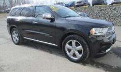 ***CLEAN VEHICLE HISTORY REPORT***, ***ONE OWNER***, ***PRICE REDUCED***, and NAVIGATION, REMOTE START, SUNROOF, HEATED SEAT, PEMIUM SOUND SYSTEM AND DVD ENTERTAINMENT SYSTEM. Durango Citadel, HEMI 5.7L V8 Multi Displacement VVT, AWD, and Black. Set down