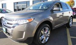 FORD CERTIFIED, 2012' FORD Edge Limited 302A Package, 4D Sport Utility, 3.5L V6 Ti-VCT, 6-Speed Automatic with Select-Shift, All Wheel Drive, Mineral Gray Metallic, Medium Light Stone w/Leather-Trimmed Heated Bucket Seats, Panoramic Vista Roof, Rear-view