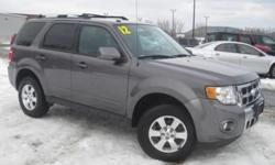 ***CLEAN VEHICLE HISTORY REPORT***, ***ONE OWNER***, and ***PRICE REDUCED***. Escape Limited, AWD, and Gray. Terrific fuel economy for an SUV! This superb-looking 2012 Ford Escape is a great little SUV! It gives you plenty of GO and won't kill your